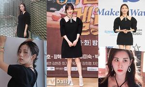 6 sao Hàn 'bất phân thắng bại' khi cùng diện một chiếc váy