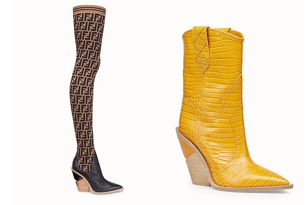 Phong cách mà người đẹp hướng tới lần này là cá tính, cool ngầu, hai đôi boots mới của Fendi có giá lần lượt 37 triệu đồng và 28 triệu đồng đáp ứng được tiêu chí đó.