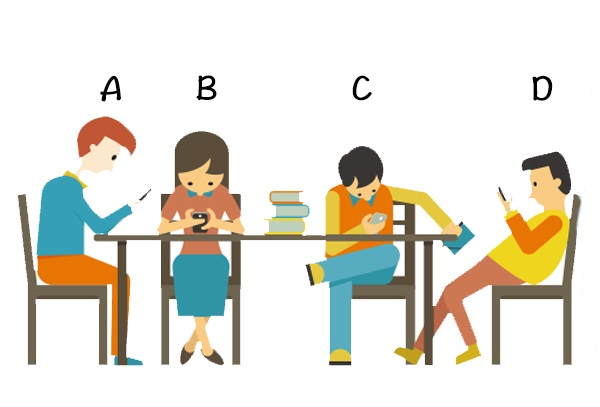 Trắc nghiệm: Nhìn dáng ngồi khi nghịch điện thoại biết ngay bạn là típ người nào
