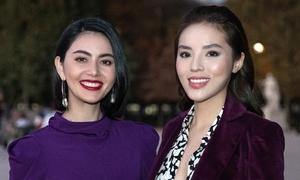 Kỳ Duyên đọ sắc vóc với 'đệ nhất mỹ nữ' Thái Lan Mai Davika tại Paris