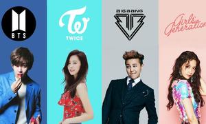 Những nhóm nhạc Hàn có tổng lượng xem nhiều nhất trên Youtube