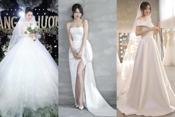 Những chiếc váy cưới riêng củaNhã Phương.