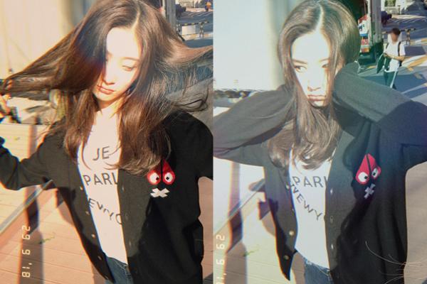 Chae Yeon (DIA) nghịch tóc, làm biểu cảm vừa hài vừa cute.