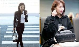 Jennie 'thay đồ' ở sân bay, Sakura gây sốt vì tạo hình chuẩn Hàn