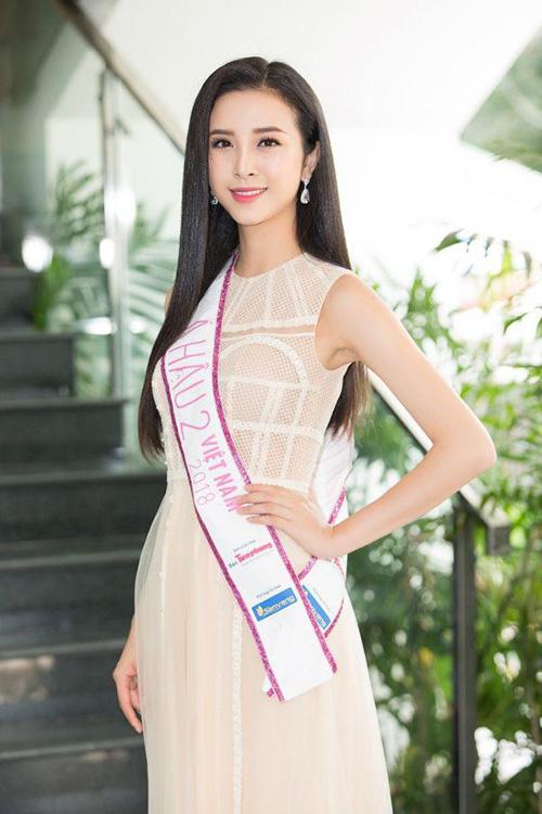 Vẻ xinh đẹp của Á hậu 2 cuộc thi Hoa hậu Việt Nam 2018.