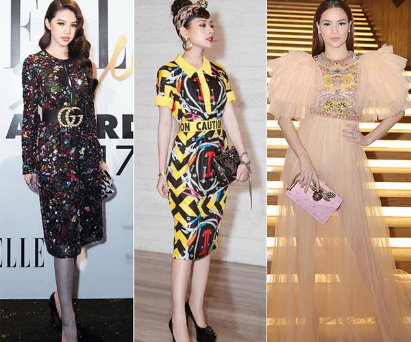 Cũng tại một sự kiện thời trang trước đó, Jolie Nguyễn, Chi Pu, Hà Hồ cùng nhiều người đẹp khác rơi vào tầm ngắm vì diện đồ màu sắc nổi bật, bất chấp quy định là tông màu trắng. Mặc dù vậy, họ vẫn được BTC trao các giải thưởng về phong cách trong đêm tiệc.