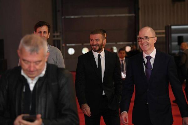 David Beckham tại sự kiện.