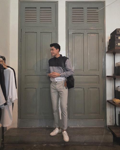 Ngoài suit, sơ mi, quần âu, áo polo và sneakers... là những món đồ không thể thiếu trong outfit xuống phố hàng ngày của chàng mẫu gốc Sài thành.