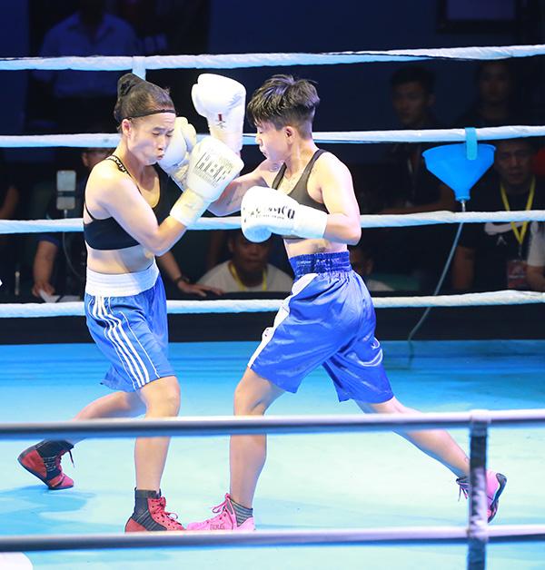 Một cặp đôi khác là Nguyễn Thị Thu Nhi (Công ty Tae Kwang Vina) đối đầu Nguyễn Thị Kim Sang (An Giang) cũng mang đến những diễn biến gay cấn.