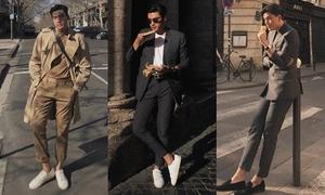 Style nam tính, lịch lãm của 'vua thả thính' Quang Đại