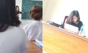 Cô giáo dạy triết nổi tiếng sau một đêm vì ảnh chụp lén quá xinh đẹp