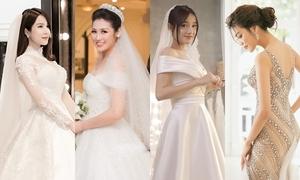 Váy cưới của 4 cô dâu Việt được chú ý nhất 2018