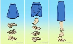 Cách mix giày với chân váy đúng chuẩn