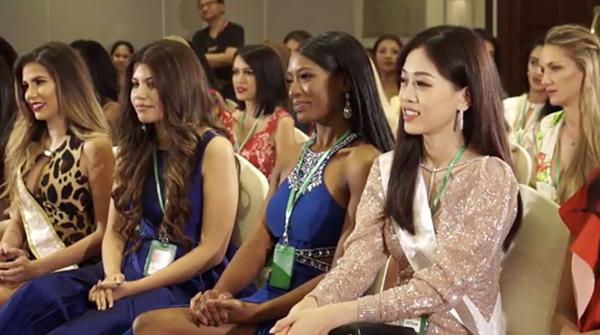 Phương Nga tự tin nói tiếng Anh, đọ sắc vóc ở Miss Grand International 2018 - 3