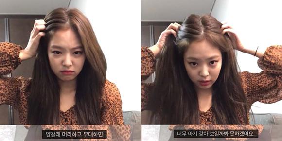 Nhiều idol lo lắng về việc rụng tóc, bị hói thì Jennie lại có mái tóc dày, đến chân tóc cũng khỏe khoắn.