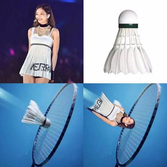 Chiếc váy của nữ ca sĩ trở thành đề tài ảnh chế, bị chê giống quả cầu đánh cầulông.