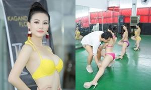 Á hậu Phương Khánh được huấn luyện trong nhà kho ở Philippines