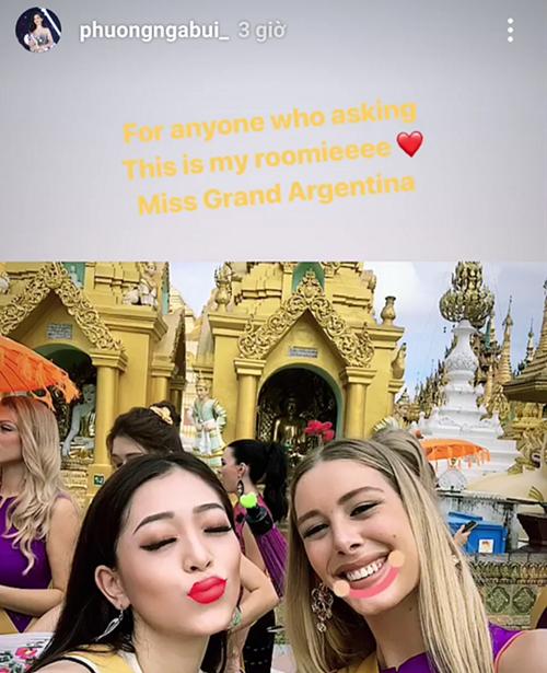 Phương Nga phủ nhận mâu thuẫn với bạn cùng phòng tại Miss Grand International.