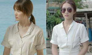 Khả Ngân bắt chước y hệt style của Song Hye Kyo trong 'Hậu duệ Mặt trời'