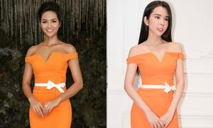 Huỳnh Vy mặc lại váy của H'Hen Niê, Hoàng Thùy để thi quốc tế