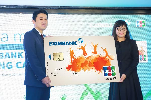 Eximbankphối hợp với Tổ chức thẻ JCB ra mắt sản phẩm thẻ quốc tế Eximbank JCB Young Card.
