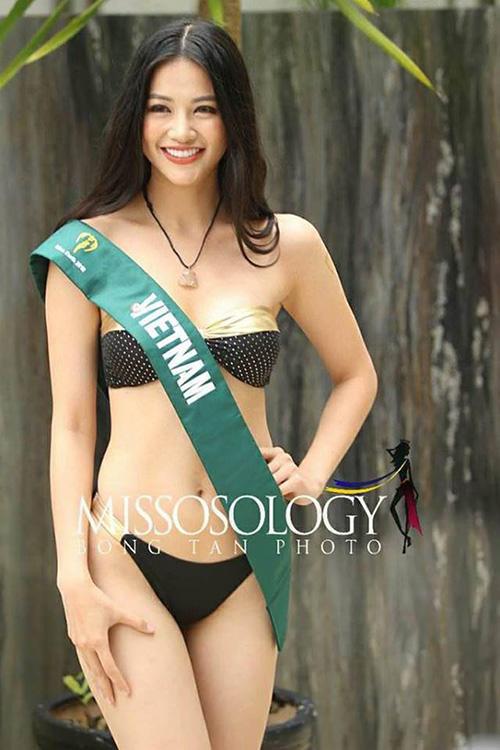 Đại diện Việt Nam Phương Khánh được đánh giá tốt năm nay nhờ sở hữu gương mặt và hình thể khá hài hòa.