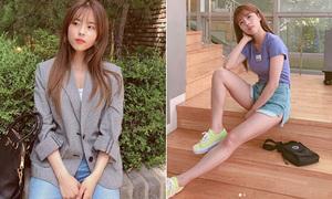 'Cô gái 1,52m' hiếm hoi của Kbiz: Mặc đẹp chẳng kém các chân dài