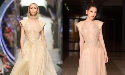 Đứng chung một khuôn hình, sự khác biệt về kiểu tóc khiến Chi Pu - Hằng Nguyễn, mỗi người là một phong cách khác nhau dù diện chung bộ đầm.