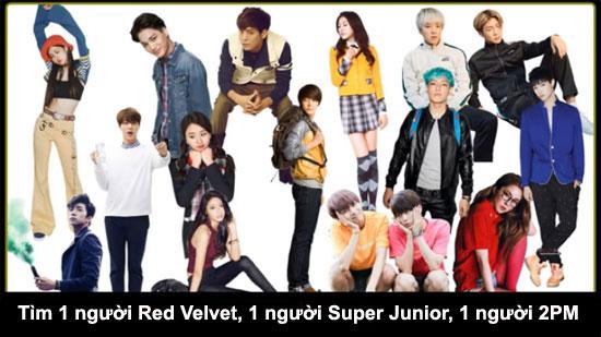 Thử thách tìm thành viên Kpop trong đám đông - 2