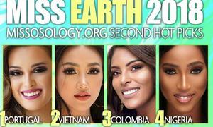 Á hậu Phương Khánh được dự đoán vào top 2 Miss Earth 2018