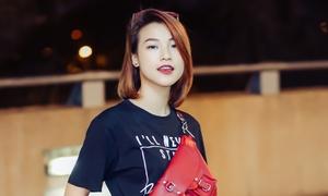 Hoàng Oanh diện style cool ngầu đi Hàn dự Seoul Fashion Week