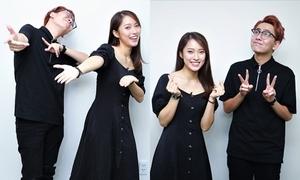 1001 biểu cảm siêu nhắng của 'cặp đôi triệu view' Khánh Vy - Osad