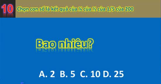 Chỉ số IQ của bạn được bao nhiêu? - 9