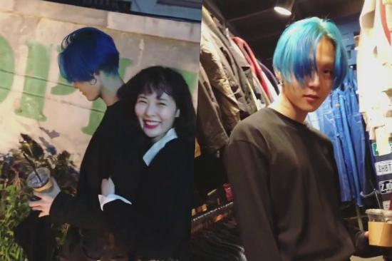 Hyun Ah thường đăng ảnh hạnh phúc bên bạn trai.
