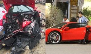 Siêu xe Ferrari hơn 15 tỷ đồng của Tuấn Hưng gặp tai nạn