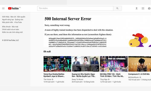 Youtube trở lại bình thường sau 2 giờ sập trên toàn cầu