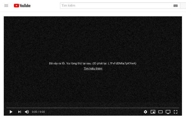 Các video cũng không thể xem được.