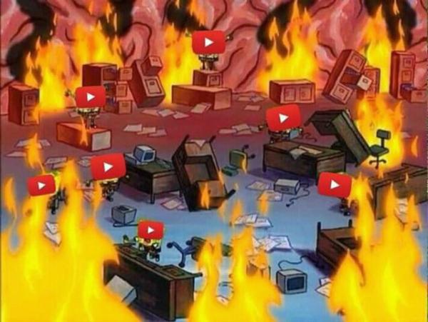 Tình trạng của đội ngũ nhân viên của Youtube trong sáng 17/10.