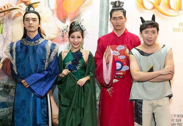 4 diễn viên của phim gồm Trấn Thành, Khả Như, Quốc Anh