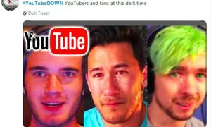 Phản ứng hài hước của người dùng khi Youtube 'sập'