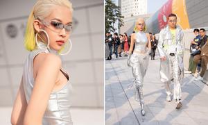 Phí Phương Anh mặc đồ chơi trội khiến fashionista Seoul phải nhìn theo