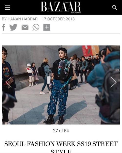 Hình ảnh của các tín đồ thời trang Việt gây chú ý tại Seoul Fashion Week