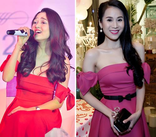 Ngoài màu đỏ, nhiều phiên bản màu sắc khác cũng được sao Việt thử nghiệm.