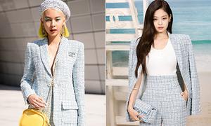 Phí Phương Anh cao tay khi mặc lại đồ sang chảnh của Jennie