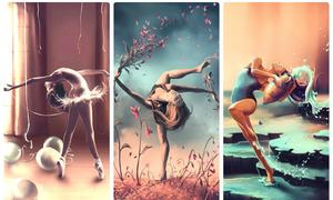 Bộ ảnh lịch 3D mang tên 'Vũ điệu 12 chòm sao' gây choáng ngợp