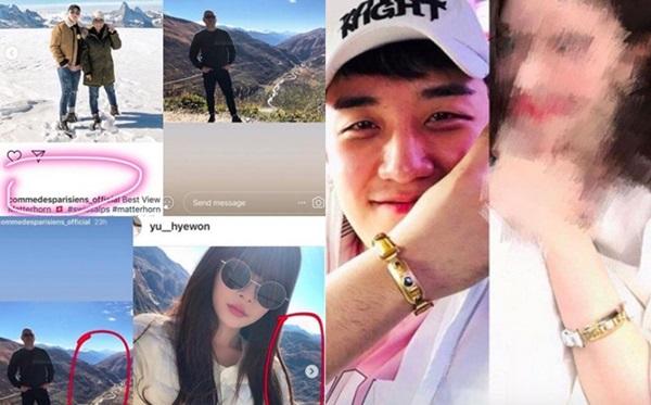 Một số bằng chứng hẹn hò của Seung Ri đượcnetizen phát hiện trên mạng xã hội.