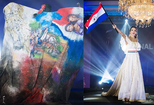 Trang phục của thí sinh Paraguay.