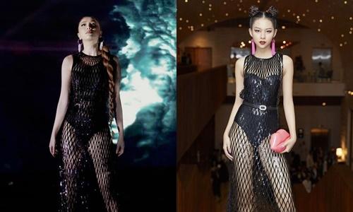 Đụng váy với Bảo Thy, Phí Phương Anh mix đồ 'cao tay' hơn hẳn