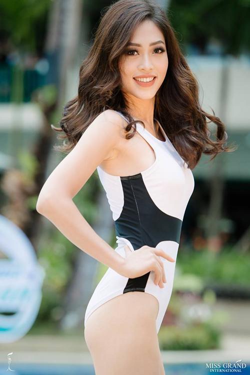Lợi thế của đại diện Việt Nam là làn da trắng không tì vết và nụ cười rạng rỡ.