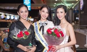 Tiểu Vy, Thúy An tiễn Thùy Tiên lên đường thi Hoa hậu Quốc tế 2018